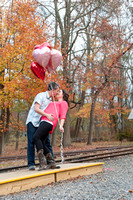 Janine and Justine's  Engagement Portrait at Allaire State Parks